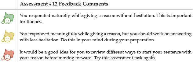 Assessment #12 Feedback Comments