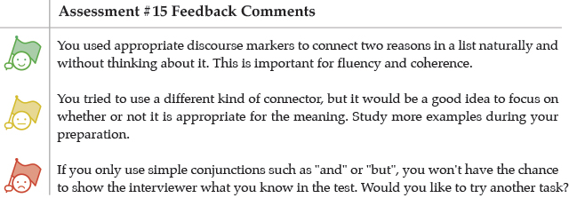 Assessment #15 Feedback Comments
