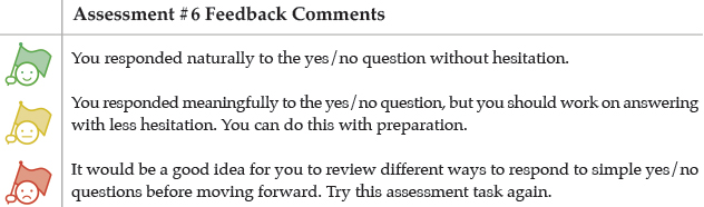 Assessment #6 Feedback Comments