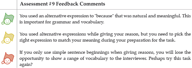 Assessment #9 Feedback Comments